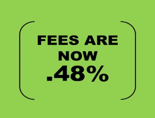 We did it again! The investment management fees are lower!